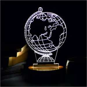 Earth Globe 3D LED Acrylic Lamp| Flower Delivery Online